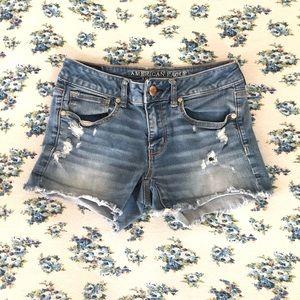 AEO Denim Distressed Shorts